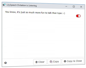 Free dictation software
